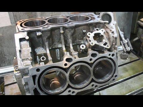 Гильзовка V образного алюминиевого блока цилиндров