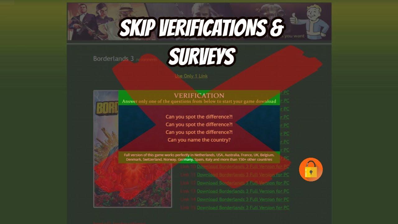 How To Bypass Skip Human Verifications Surveys Youtube