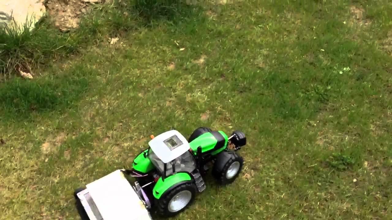 Berühmt RC Bruder Deutz X720 Mähwerk Traktor 2 - YouTube &HV_85