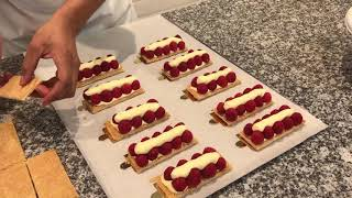 Raspberry Millefeuille: Chef Brice shows us how he makes a summery spin on the French classic