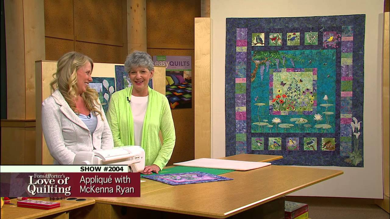Love of Quilting Preview: Easy Pictorial Appliqué with McKenna ... : pictorial quilting videos - Adamdwight.com