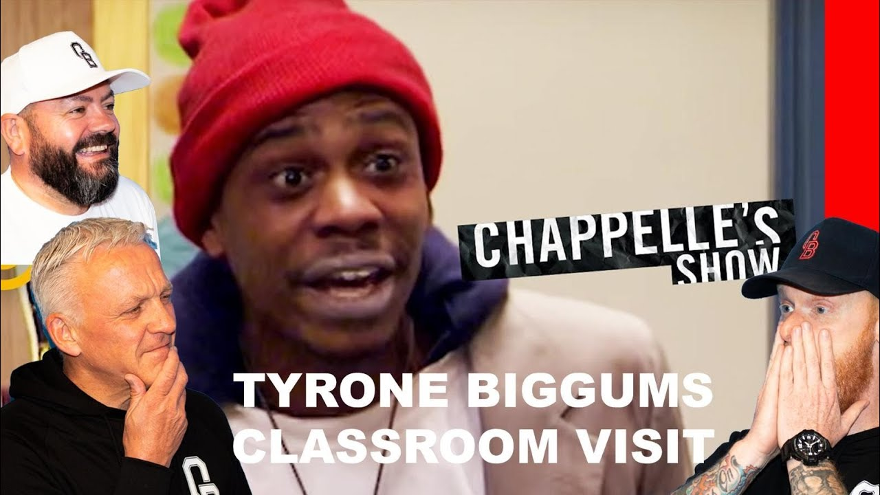 Chappelle's Show - Tyrone Biggums's Classroom Visit REACTION!!   OFFICE BLOKES REACT!!