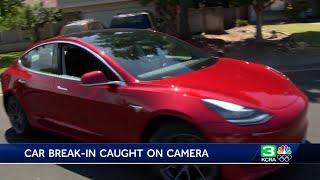 CAUGHT ON CAMERA: Thieves break into Tesla in Fairfield