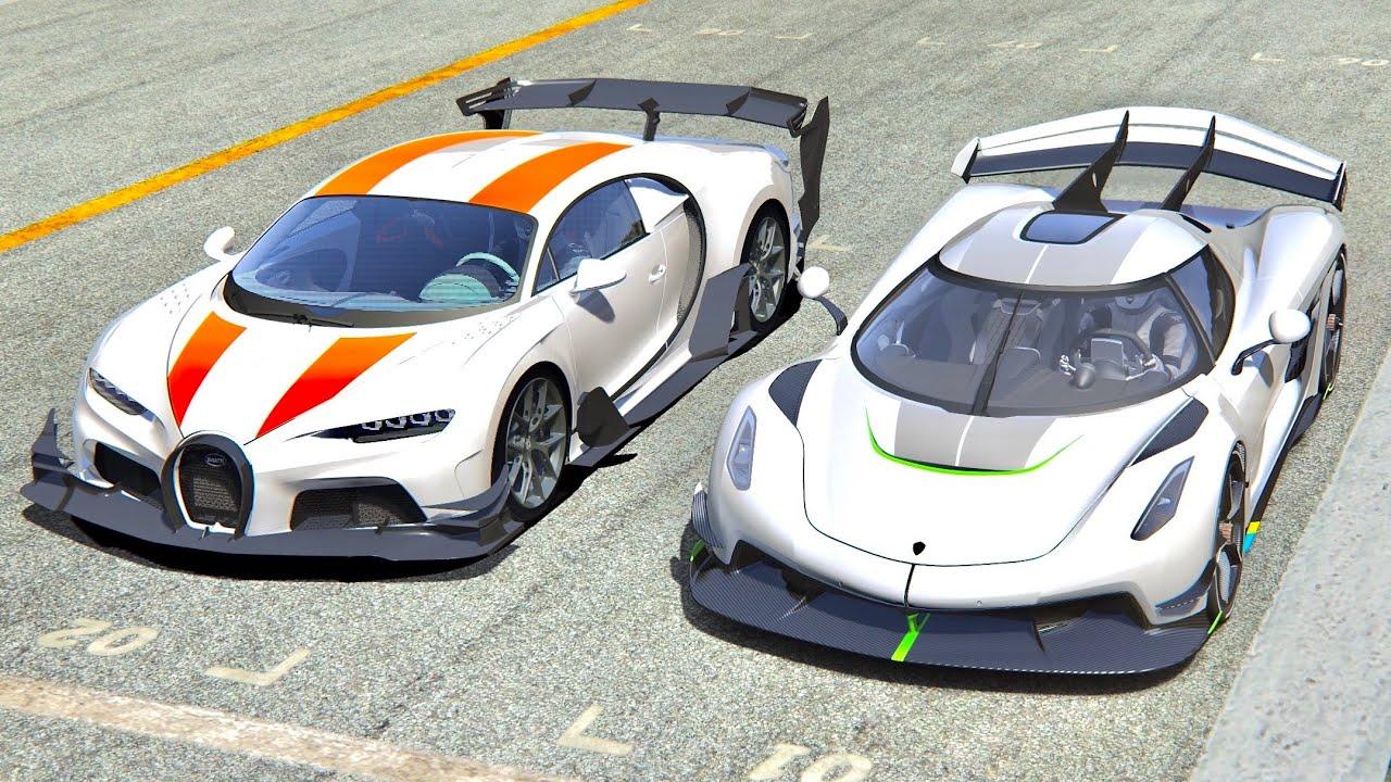 Bugatti Chiron GTR vs Koenigsegg Jesko at Highlands - YouTube