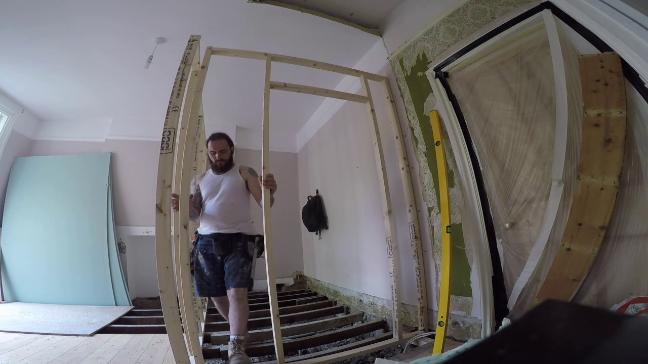 Partition wall / Framing work - YouTube