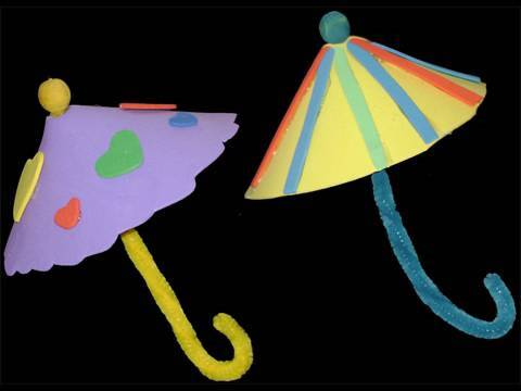 Watch on Paper Plate Umbrella Craft