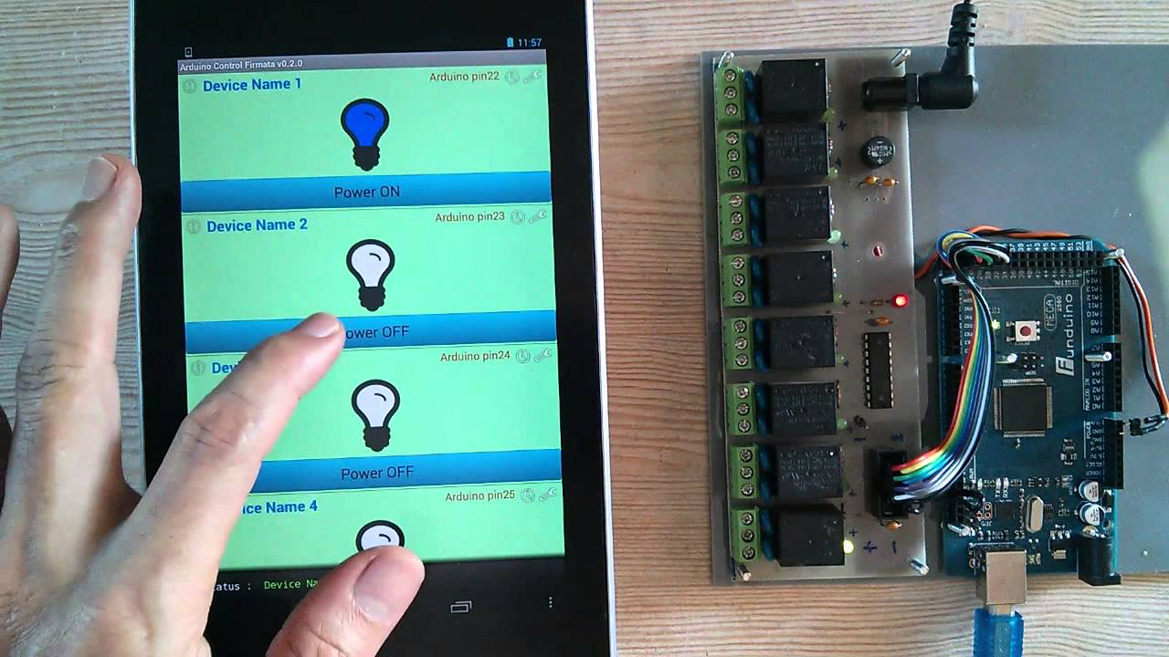 Android arduino usb smart home control youtube