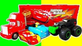 Disney Cars Mack Truck Playset Color-Changers Lightining McQueen Ramone Sheriff Boost Water Fun
