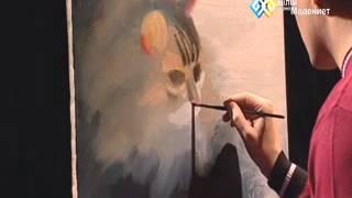 """""""Картина маслом"""" (008) - Кошка"""