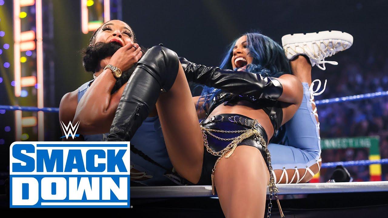Download Sasha Banks, Carmella and Zelina Vega attack Bianca Belair: SmackDown, Aug. 13, 2021