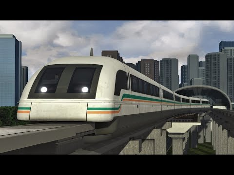 Train Simulator: Shanghai Longyang Road - Pudong Airport with Transrapid SMT