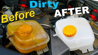 How To Clean & Restore Coolant Tank - PERMANENTLY