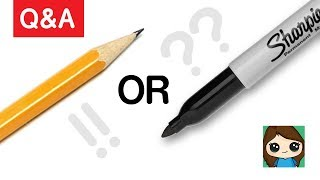Artist Q & A: Why Do You Use a Sharpie to Draw? Pencil or Sharpie?