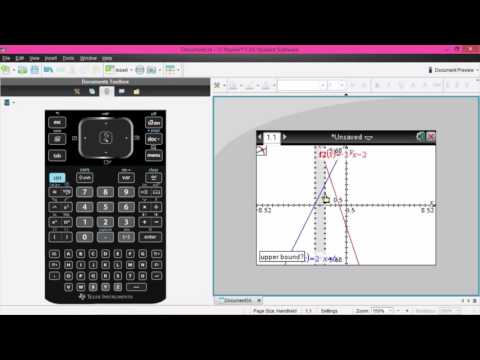 Lesson 3 - Simultaneous Equations On The Graph And On The Calculator
