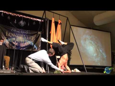 Dr. Robert Cassar at Best Weekend Ever 2008 Yoga Swing Demo Part 1