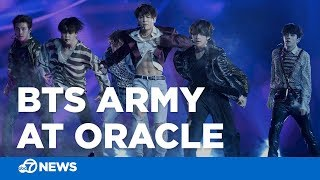 BTS Army out in force ahead of K-Pop band's concert at Oracle