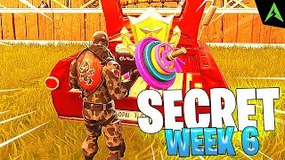 THE RED CAR IS * SECRET LOCATION * FOR WEEK 6 IN FORTNITE!