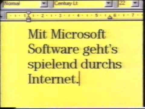 Early Microsoft Internet Explorer Commercial (1996)