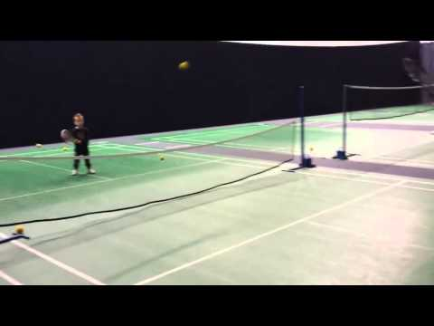 Alex Ingham Aged 3 Playing Tennis at Bolton Academy