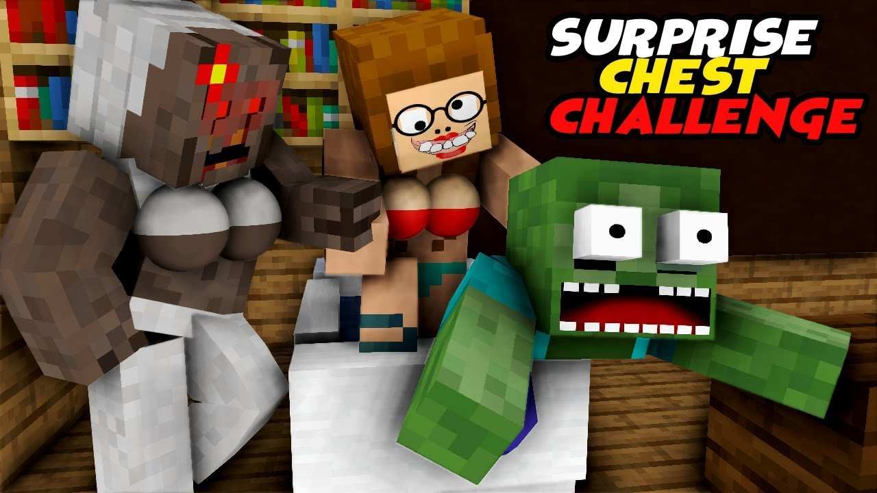 MONSTER SCHOOL : SURPRISE CHEST CHALLENGE - FUNNY MINECRAFT ANIMATION