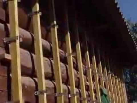 Обшивка бревенчатого дома сайдингом своими руками(№3)