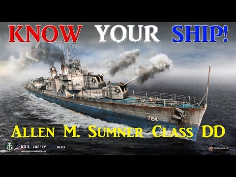 World of Warships - Know Your Ship #18 - Allen M Sumner Class Destroyers