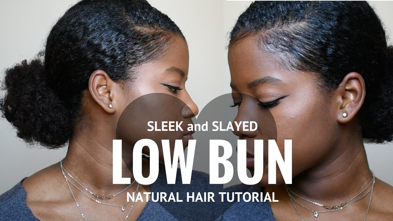 Sleek Low Bun On Natural Hair