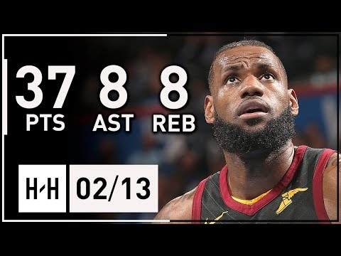 LeBron James DOMINANT Full Highlights vs Thunder (2018.02.13) - 37 Pts, 8 Reb, 8 Ast, CLUTCH!