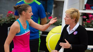 Karolina Plíšková damages umpire's chair in tantrum