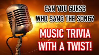 TOUGH MUSIC QUIZ (Can You Remember Who Sang These Songs?) 10 Questions Plus A Bonus