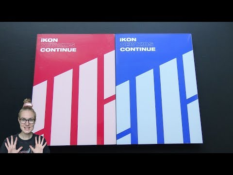 Unboxing IKON 아이콘 1st Korean Mini Album NEW KIDS: CONTINUE (Both Red & Blue Edition)