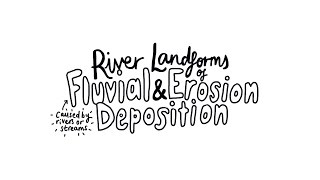 River Landforms of Erosion and Deposition - AS Physical Geography