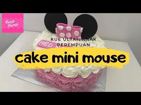 Dekorasi kue ulang tahun mini mouse imut lucu dan menggemaskan !