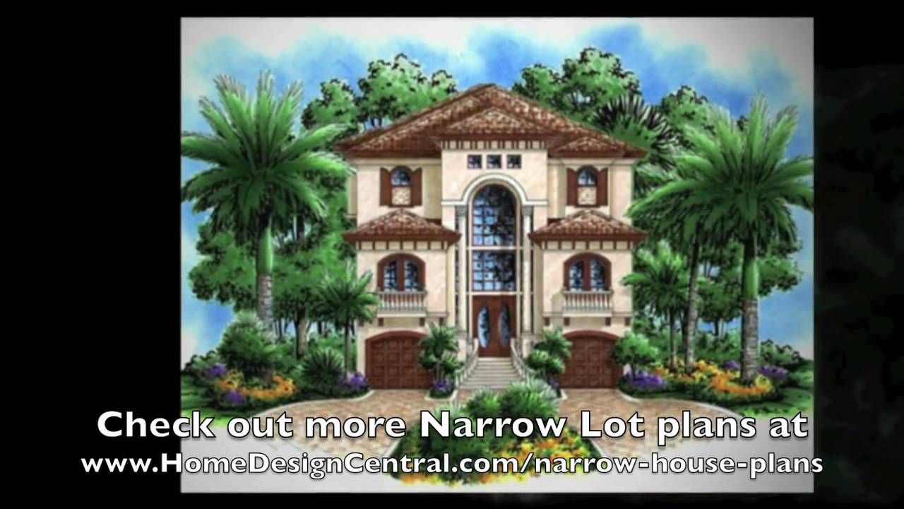 Narrow lot house plans at home design youtube for Award winning narrow lot house plans