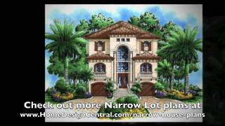 Narrow Lot House Plans At Home Design Central.com