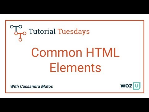 Woz U Learn To Code: Common HTML Elements | Learn HTML & CSS