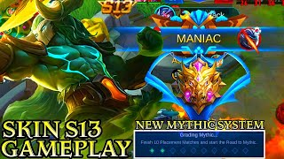 Hylos Skin S13 and NEW MYTHIC SYSTEM Gameplay - Mobile Legends Bang Bang