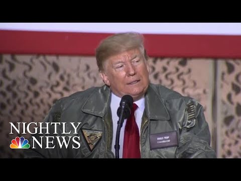 President Donald Trump Makes Surprise Visit To U.S. Troops In Iraq | NBC Nightly News Mp3