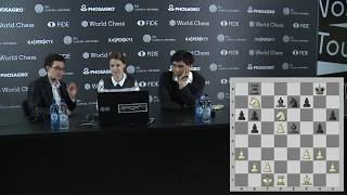 Round 8. Press conference with Caruana and So