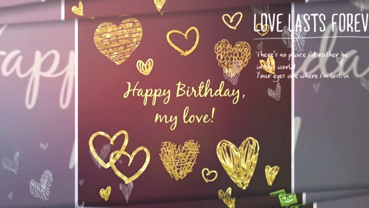 Birthday Wishes Video For Husband Youtube