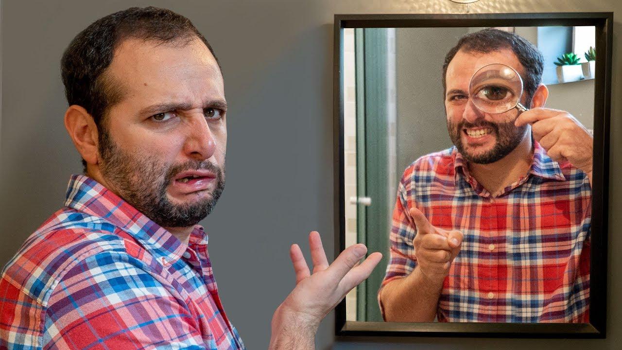 Você não sabe olhar no espelho!