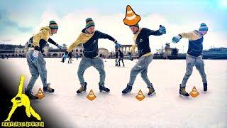Freestyle Ice Skating: Slalom Grapevine Tutorial