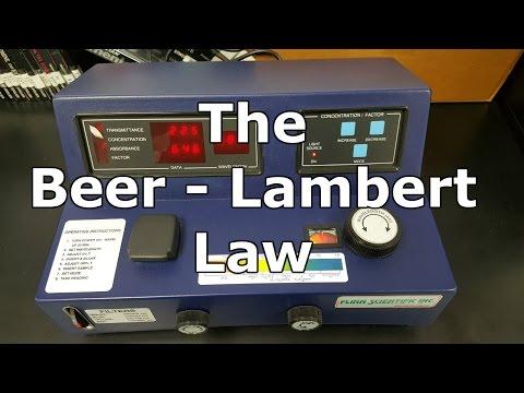 The Beer - Lambert Law