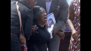 Sombre mood as Ruth Matete buries husband in Lang'ata