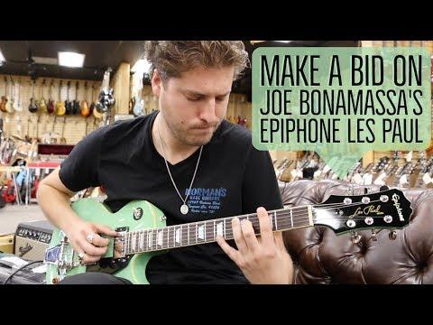 LEMMO playing Joe Bonamassa's Epiphone Les Paul | BIDDING ENDS TODAY AT 5PM PST!!!