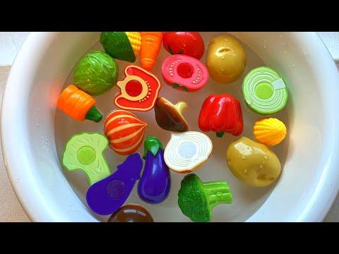 Learn English Names of Fruits and Vegetable toys Tomato Broccoli Corn 과일과 야채 완구의 영어 이름 토마토 브로콜리 옥수수