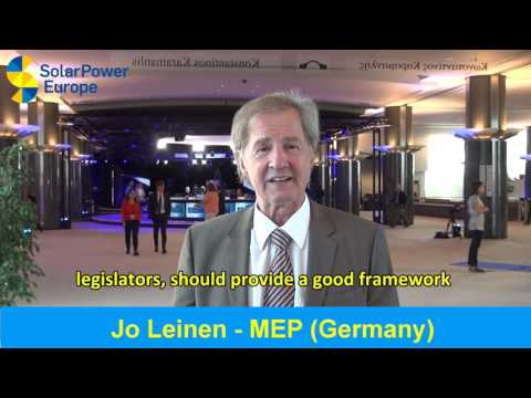 100 GW of Solar Celebration - MEP Jo Leinen