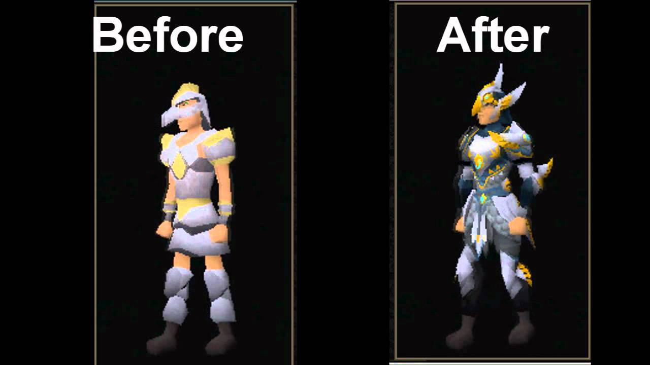 Runescape Graphical Update Armadyl Armour Before And After Old