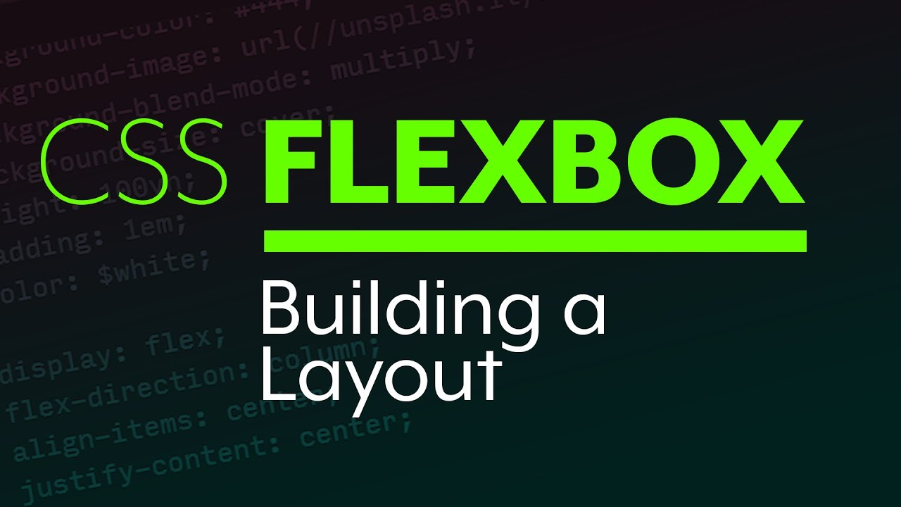 Flexbox Tutorial - Building a simple layout with Flexbox - YouTube