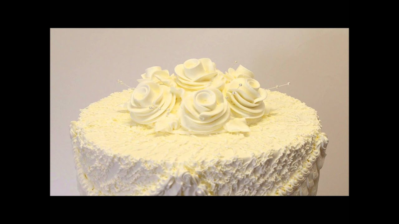 Simple Wedding Cake Idea - Easy Wedding Cake design- White & Ivory ...